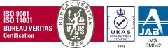 ISO 9001:2015、ISO 14001:2015 認証取得